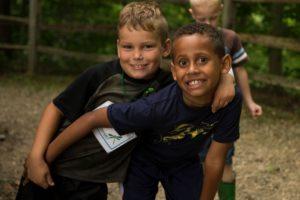 Boys at junior ranger summer day camp