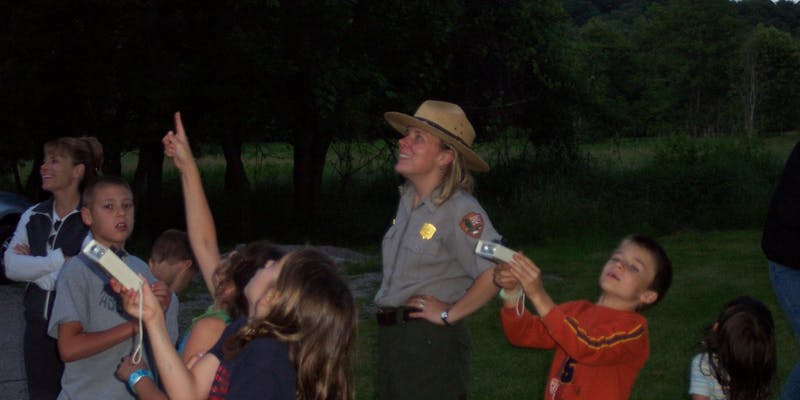 junior ranger  observe the moon night