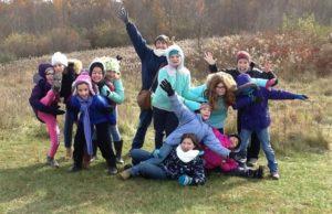 girl scouts enjoying a field in CVNP