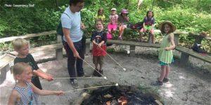 Campers making smores