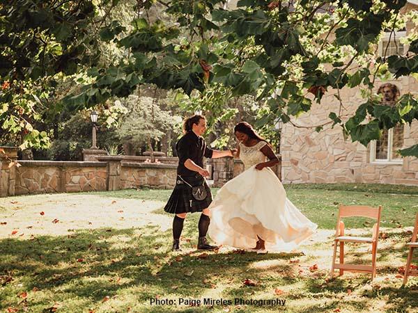 Wedding photo at Hines Hill Campus