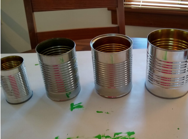 unpainted cans ready for crafting