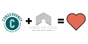 Conservancy logo plus Haus of Cool logo equals Heart
