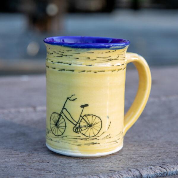 Elements Studios Yellow Bike Mug
