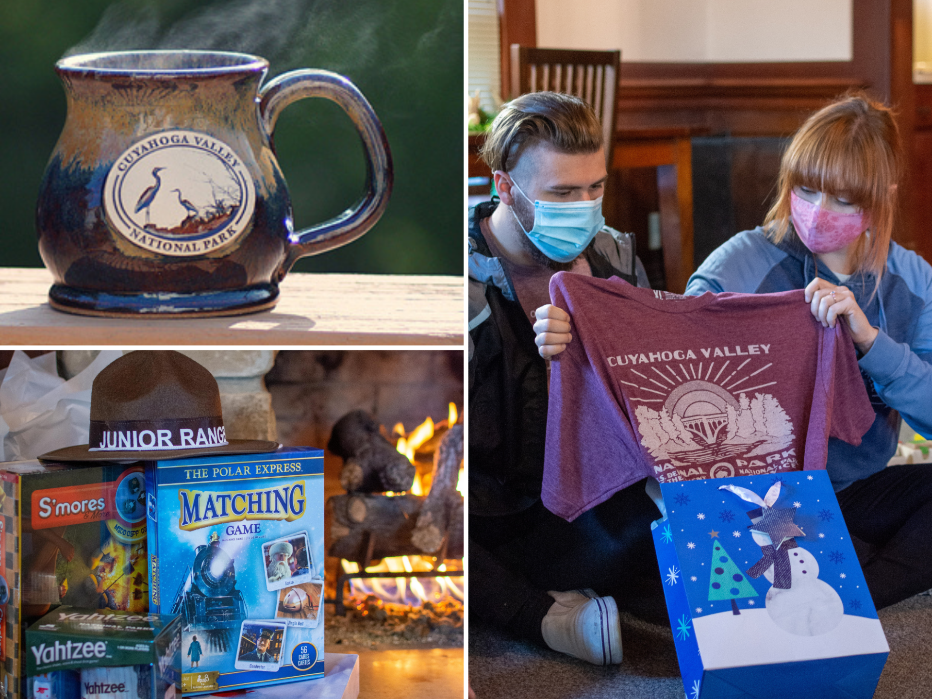 Various holiday gifts from the Conservancy online store and Trail Mix Peninsula