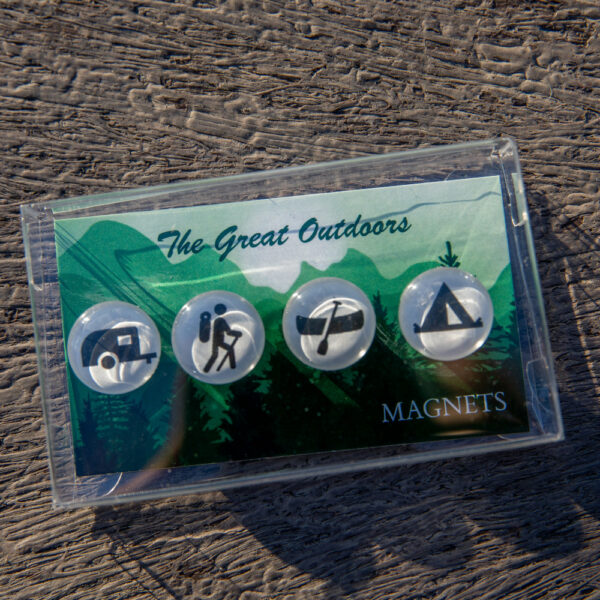 Tanner Glass Camping Magnets