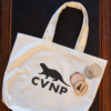 Park Pack 'Creature Comforts' canvas bag with CVNP otter stencil and tree cookies