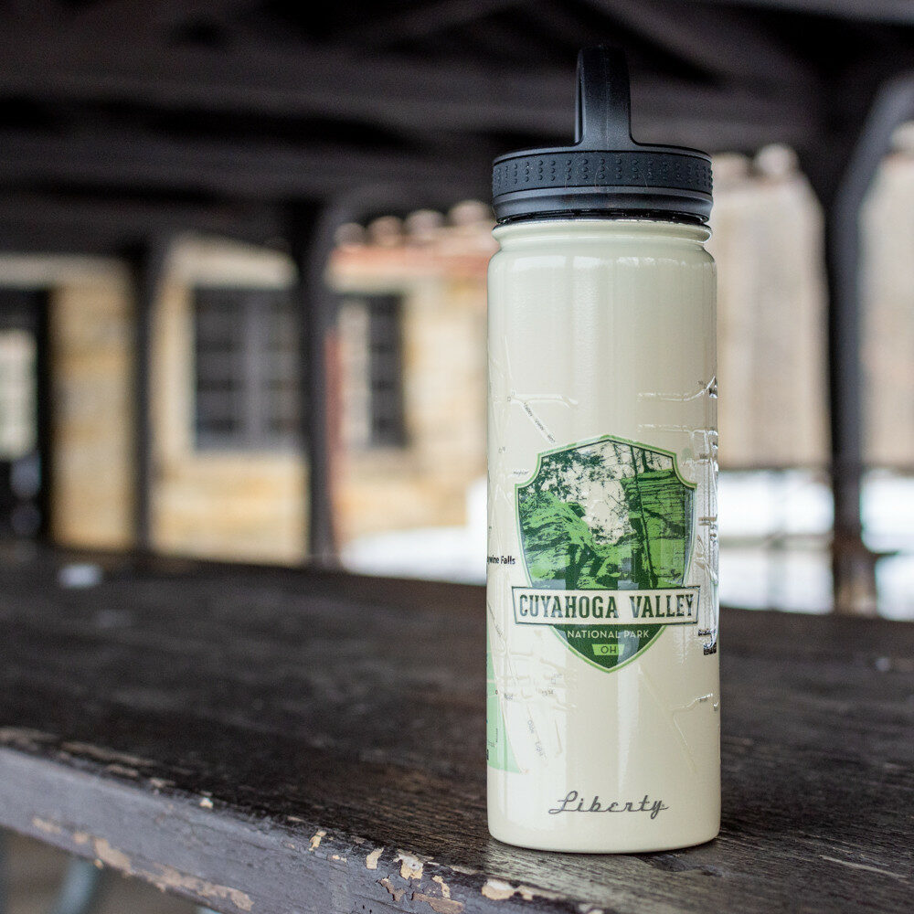 CVNP Double Wall Map Waterbottle