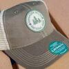 Old Favorite Trucker Hat (olive, close up)